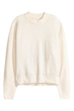 Knit Sweater with Appliqué - White -  | H&M CA 3