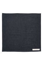 Jacquard-weave cotton napkin - Dark blue/Natural white - Home All | H&M CN 2