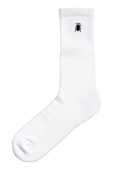 Fine-knit socks - White - Men | H&M 1