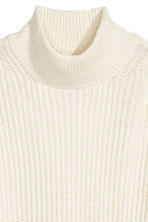 Ribbed jumper - Natural white - Ladies | H&M CN 3