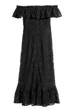 Off-the-shoulder lace dress - Black -  | H&M CN 2