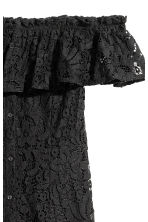 Off-the-shoulder lace dress - Black -  | H&M CN 3