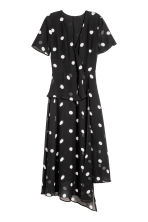 Chiffon dress - Black/Spotted - Ladies | H&M 2