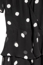 Chiffon dress - Black/Spotted - Ladies | H&M 3