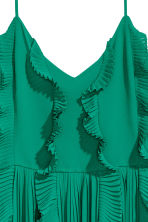 Pleated dress - Green -  | H&M 3