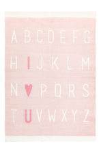 Print-motif cotton rug - Light pink - Home All | H&M CN 1