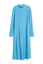Dress with a stand-up collar - Light blue - Ladies | H&M 2