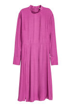 Dress with a stand-up collar - Dark pink - Ladies | H&M CN 2