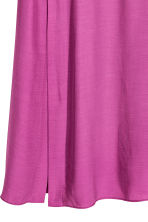 Dress with a stand-up collar - Dark pink - Ladies | H&M CN 3