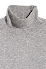 Cashmere Turtleneck Sweater - Gray melange - Ladies | H&M CA 3