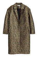 Jacquard-weave coat - Khaki green/Leopard print - Ladies | H&M 2