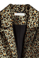 Jacquard-weave coat - Khaki green/Leopard print - Ladies | H&M 3
