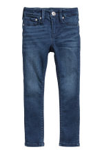 Skinny fit Satin Jeans - Donker denimblauw - KINDEREN | H&M BE 2