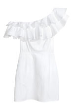 Cotton one-shoulder dress - White - Ladies | H&M CN 2
