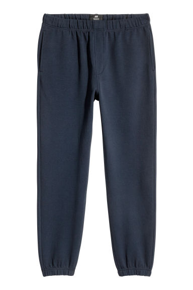 Piqué joggers - Donkerblauw - HEREN | H&M BE 1