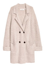 Bouclé cardigan - Light beige marl - Ladies | H&M CN 1