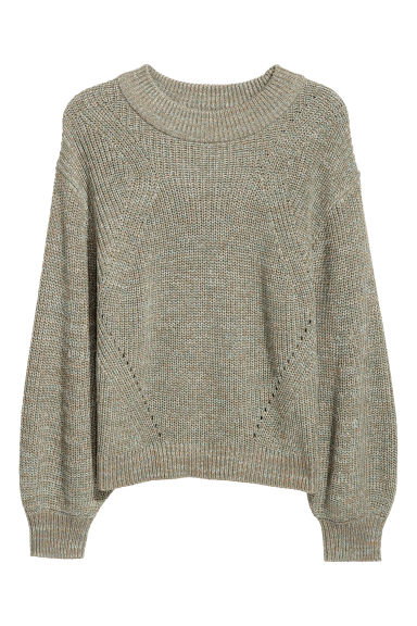 H&M+ Knitted jumper - Light green - Ladies | H&M