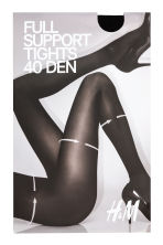 H&M+ 40 denier support tights - Black - Ladies | H&M CN 1