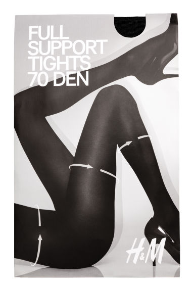 70 denier support tights Model