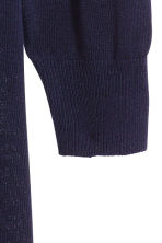 Fine-knit cardigan - Dark blue - Ladies | H&M 3