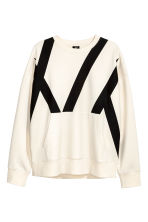 Oversized top - White/Black - Men | H&M CN 2
