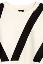 Oversized top - White/Black - Men | H&M CN 3