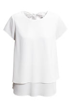 MAMA Crêpe nursing top - White - Ladies | H&M CN 2