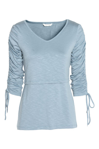 MAMA Nursing top - Light blue - Ladies | H&M CN