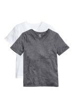 2-pack T-shirts - Black/White -  | H&M 2