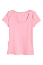 Jersey top - Light pink marl - Ladies | H&M 2