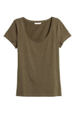 Jersey Top - Khaki green - Ladies | H&M CA 2