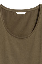 Jersey Top - Khaki green - Ladies | H&M CA 3