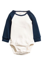 2-pack long-sleeved bodysuits - Dark blue/Striped - Kids | H&M CN 2