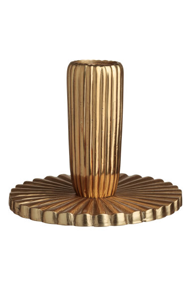 Fluted metal candlestick - Gold-coloured - Home All | H&M CN