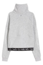 Fleece sports top - Grey - Ladies | H&M 3