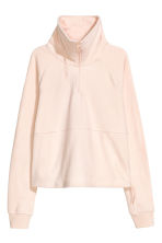 Fleece sports top - Powder pink - Ladies | H&M CN 2