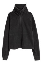 Fleece sports top - Black - Ladies | H&M 2