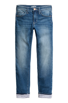 Slim Lined Generous Size Jeans
