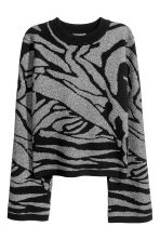 Glittery jumper - Black/Silver-coloured - Ladies | H&M 2