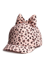 Cap with a bow - Light pink/Leopard print -  | H&M 1