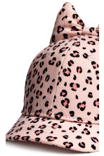Cap with a bow - Light pink/Leopard print -  | H&M 4
