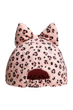 Cap with a bow - Light pink/Leopard print -  | H&M 2