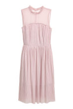 Pleated mesh dress - Powder pink - Ladies | H&M CN 2