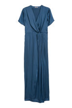 H&M+ Long satin dress - Blue - Ladies | H&M 1
