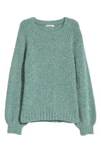 Glittery jumper - Turquoise/Glittery - Ladies | H&M CN 2