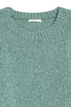 Pull scintillant - Turquoise/scintillant - FEMME | H&M BE 3