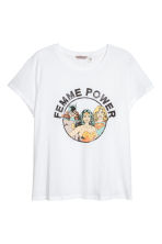H&M+ Printed T-shirt - White -  | H&M 2
