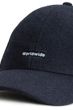 Wool-blend cap - Dark blue - Men | H&M 3