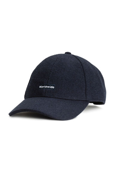 Wool-blend cap - Dark blue - Men | H&M