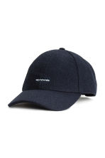 Wool-blend cap - Dark blue - Men | H&M 1